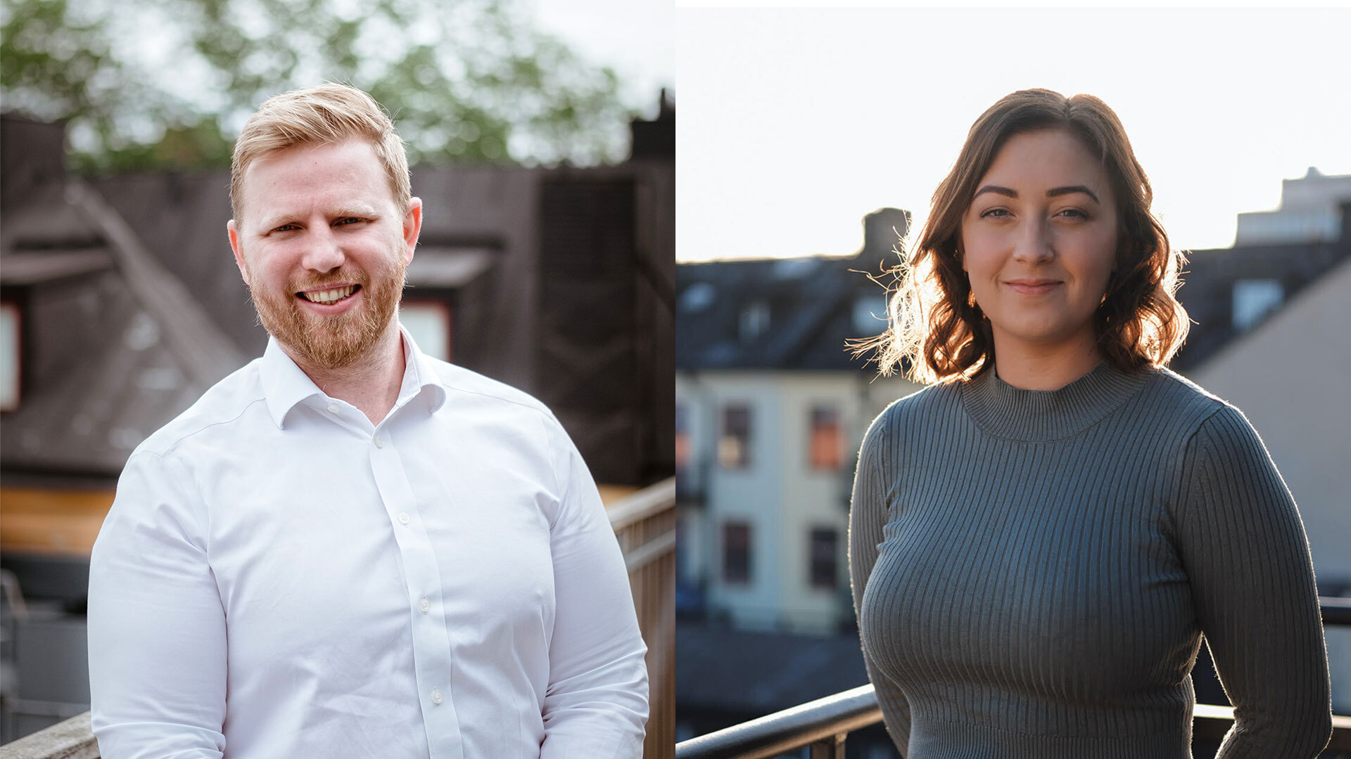 Viktor and Julia, partnership between Scrive and SSE Business Lab